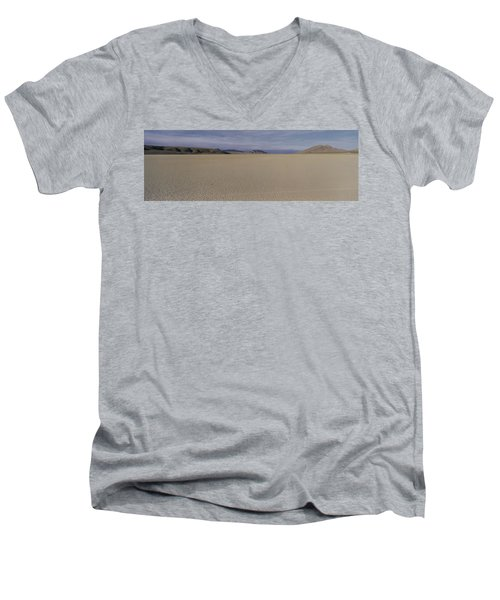 This Is A Dry Lake Pattern Men's V-Neck T-Shirt