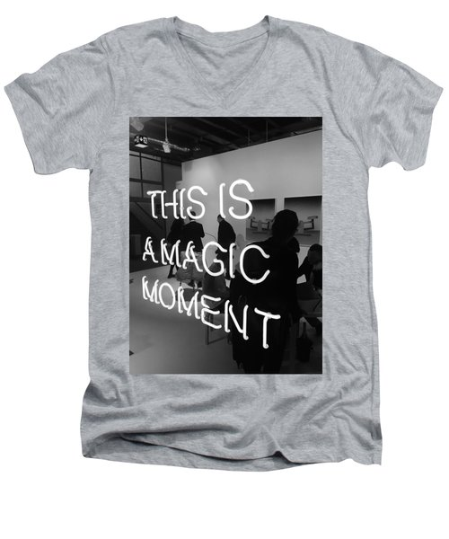 This Is A Magic Moment Men's V-Neck T-Shirt by Funkpix Photo Hunter