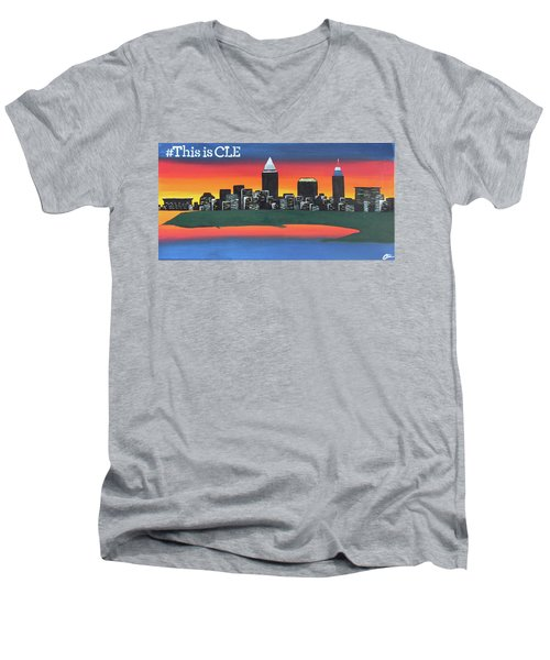 This Is Cle Men's V-Neck T-Shirt by Cyrionna The Cyerial Artist