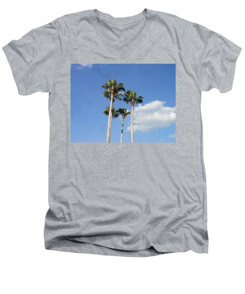 This Is Florida Men's V-Neck T-Shirt by Kay Gilley