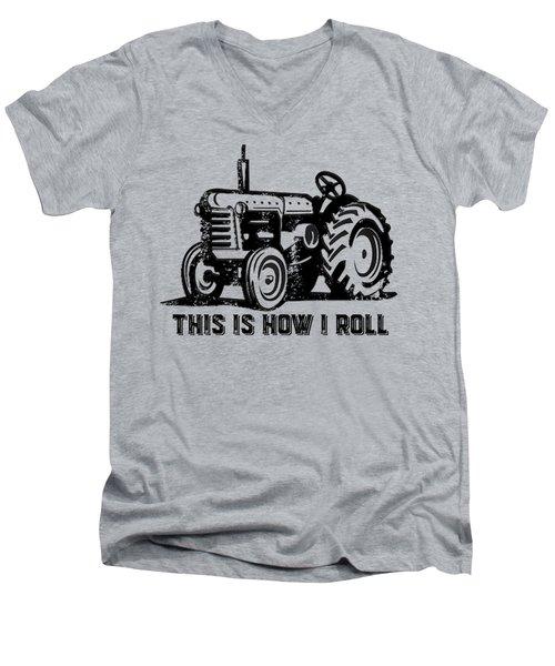 This Is How I Roll Tee Men's V-Neck T-Shirt by Edward Fielding
