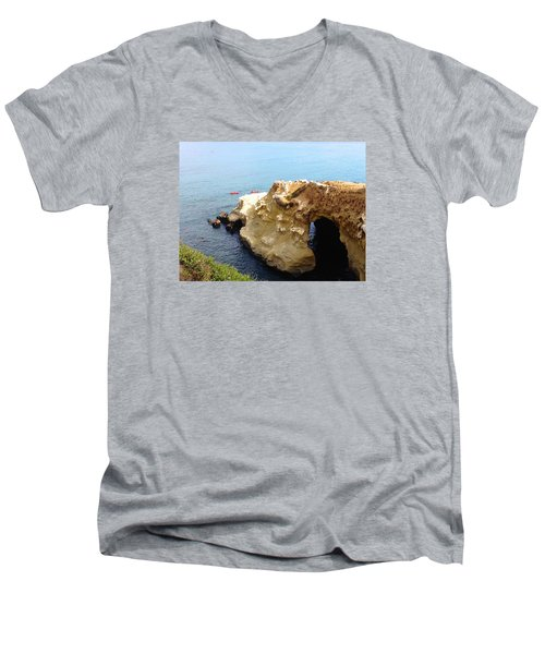 This Is La Jolla Men's V-Neck T-Shirt by Beth Saffer
