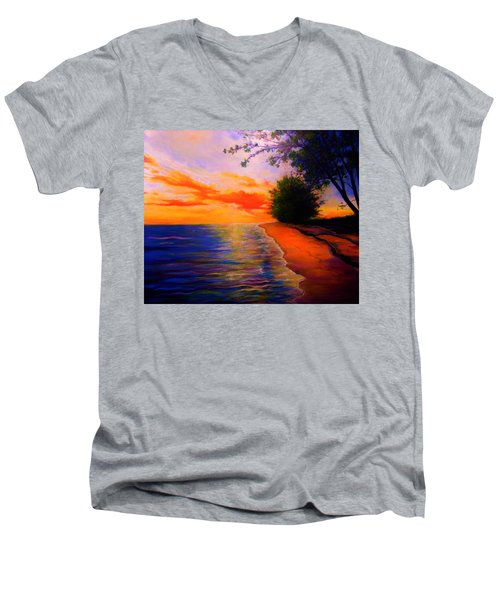 This Is Living Men's V-Neck T-Shirt by Emery Franklin