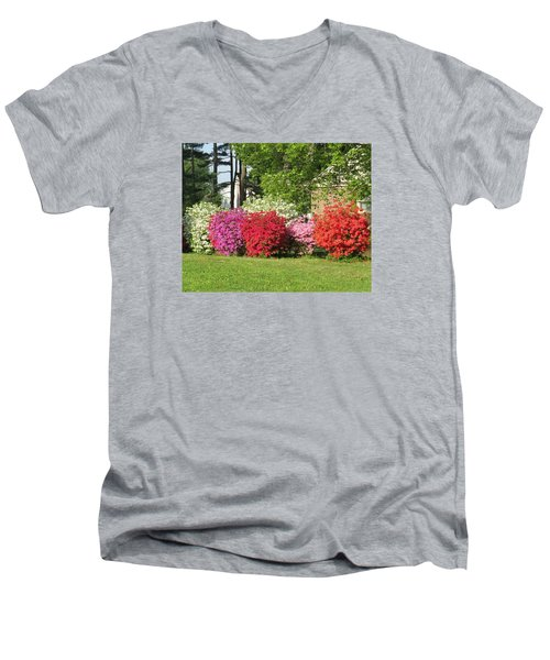 This Is Spring In Pa Men's V-Neck T-Shirt by Jeanette Oberholtzer