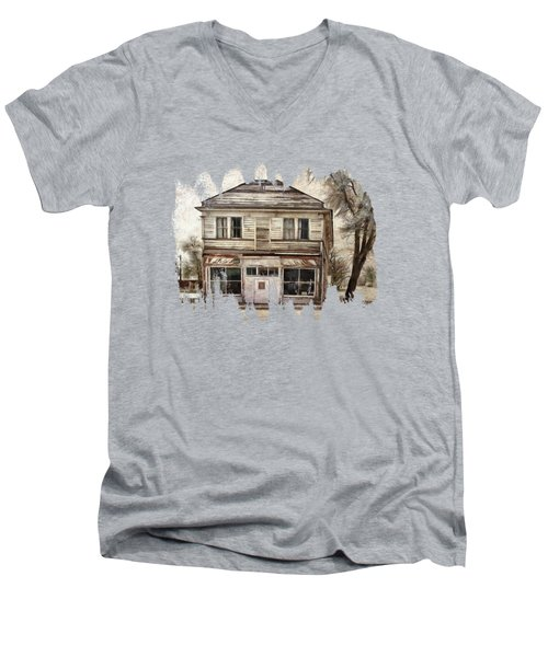 Men's V-Neck T-Shirt featuring the photograph This Old Store by Thom Zehrfeld