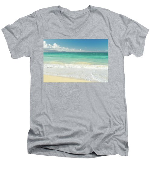 Men's V-Neck T-Shirt featuring the photograph This Paradise Life by Sharon Mau
