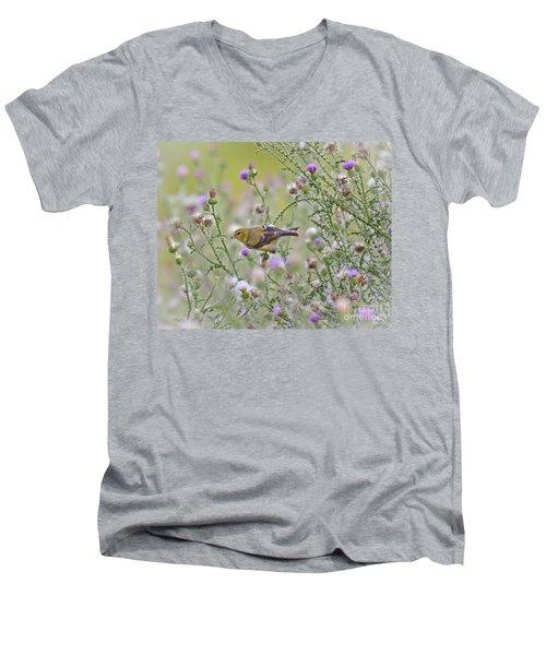 Thistle Bender Men's V-Neck T-Shirt