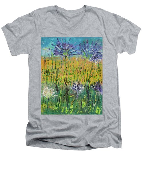 Thistles Too Men's V-Neck T-Shirt