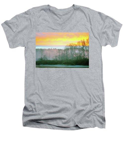 Thomas Eddy Sunrise Men's V-Neck T-Shirt