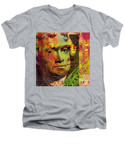 Thomas Jefferson - $2 Bill Men's V-Neck T-Shirt