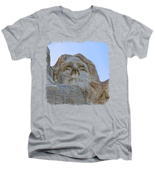 Thomas Jefferson 3 Men's V-Neck T-Shirt by John M Bailey