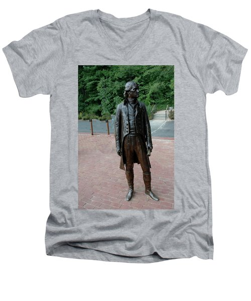 Thomas Jefferson At Monticello Men's V-Neck T-Shirt