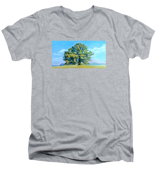 Thomas Jefferson's White Oak Tree On The Way To James Madison's For Afternoon Tea Men's V-Neck T-Shirt by Catherine Twomey