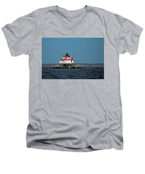 Thomas Point Shoal Light Men's V-Neck T-Shirt