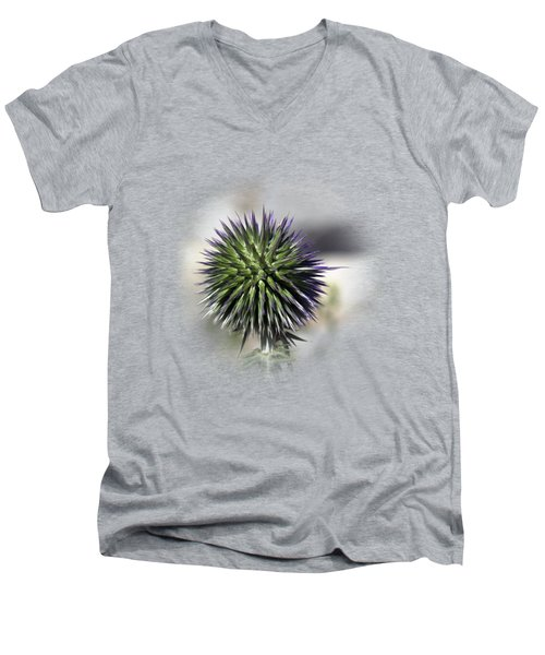 Thorn Flower T-shirt Men's V-Neck T-Shirt by Isam Awad
