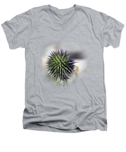 Thorn Flower T-shirt Men's V-Neck T-Shirt