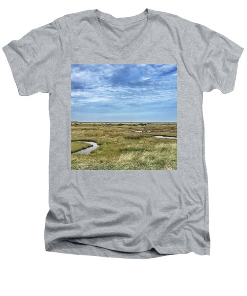 Thornham Marshes, Norfolk Men's V-Neck T-Shirt