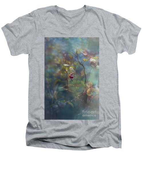 Thorns And Roses Men's V-Neck T-Shirt by Agnieszka Mlicka