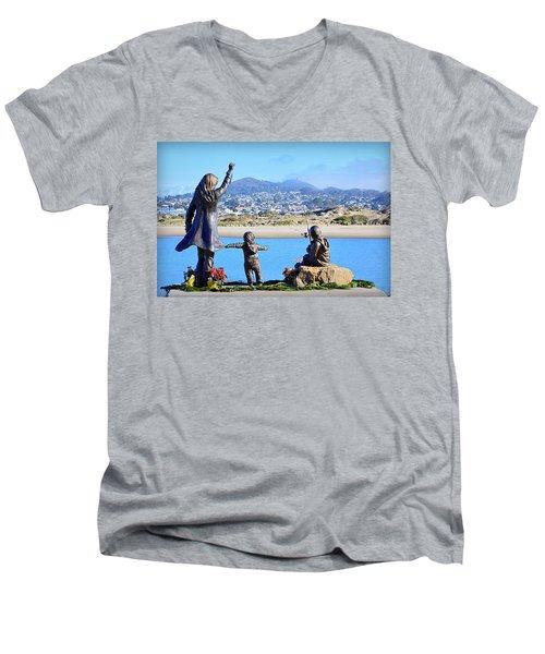 Men's V-Neck T-Shirt featuring the photograph Those Who Wait by AJ Schibig