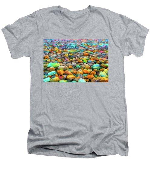 Thou Shalt Not Eat Stones Men's V-Neck T-Shirt