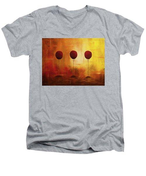 Three Alone But Together Men's V-Neck T-Shirt