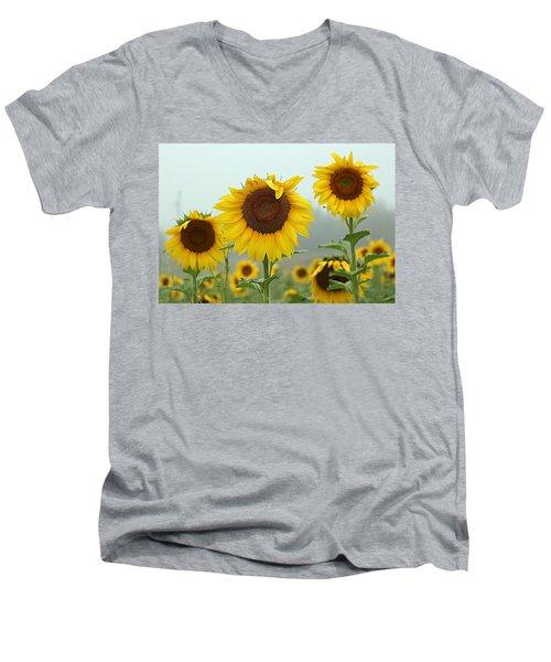 Three Amigos In A Field Men's V-Neck T-Shirt