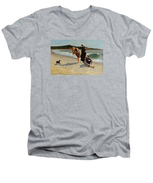 Three Bathers Men's V-Neck T-Shirt