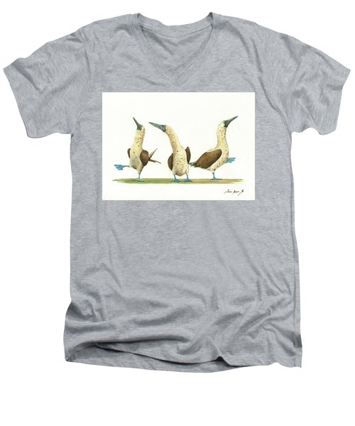 Three Blue Footed Boobies Men's V-Neck T-Shirt