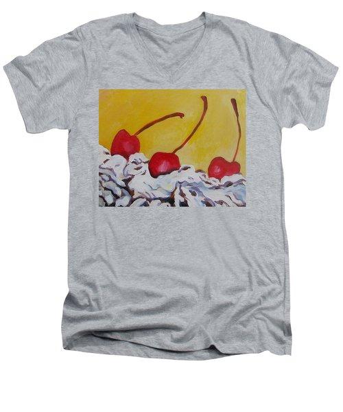 Three Cherries Men's V-Neck T-Shirt