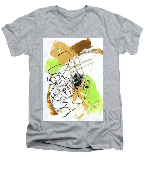 Three Color Palette Men's V-Neck T-Shirt by Michal Mitak Mahgerefteh