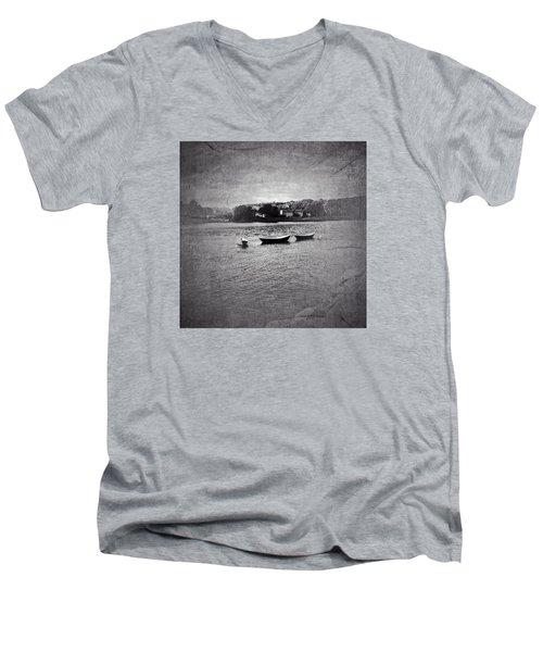 Three Dories Men's V-Neck T-Shirt by Ann Tracy