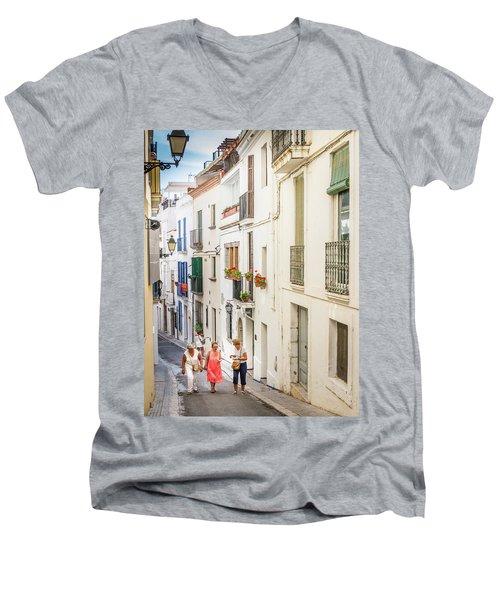 Three Friends Men's V-Neck T-Shirt