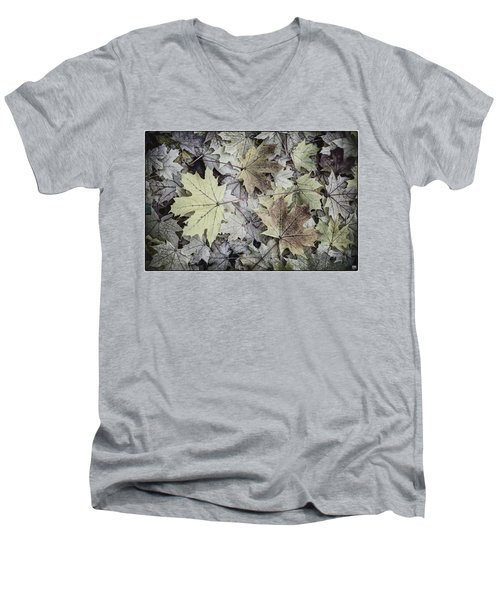Three Leaves Men's V-Neck T-Shirt