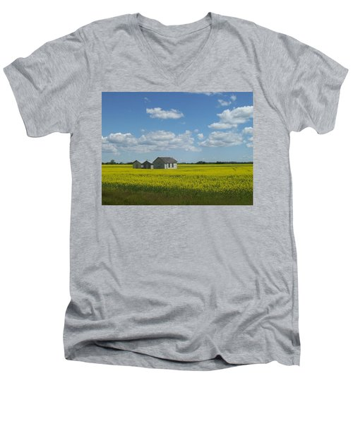 Men's V-Neck T-Shirt featuring the photograph Three Of A Kind by Mary Mikawoz