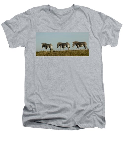 Three On The Horizon Men's V-Neck T-Shirt