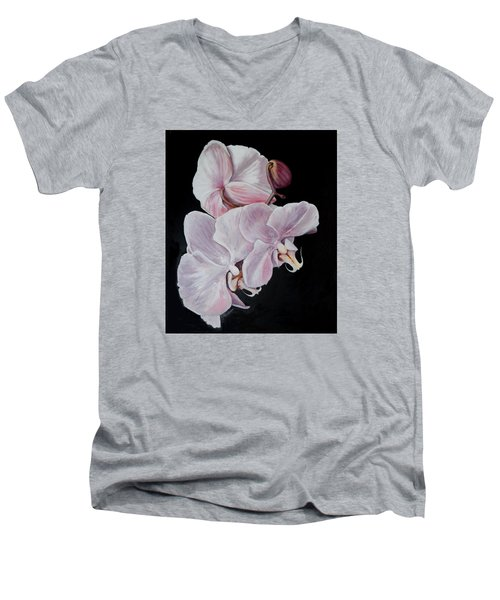 Three Orchids Men's V-Neck T-Shirt