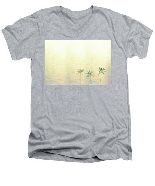 Three Palms In Color Men's V-Neck T-Shirt