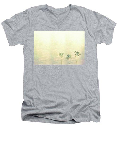 Three Palms In Color Men's V-Neck T-Shirt