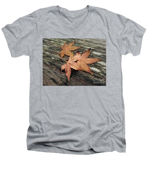 Men's V-Neck T-Shirt featuring the photograph Three by Peggy Hughes
