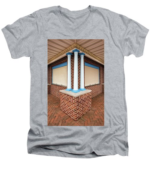 Three Pillars At The Refreshment Stand Men's V-Neck T-Shirt