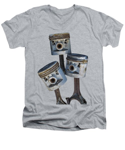 Three Pistons Men's V-Neck T-Shirt