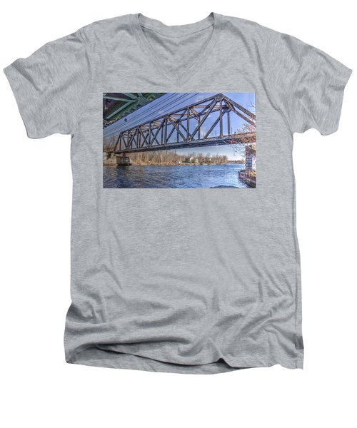 Three Rivers Trestle Men's V-Neck T-Shirt