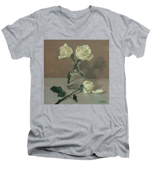 Two Roses In A Tequila Bottle Men's V-Neck T-Shirt