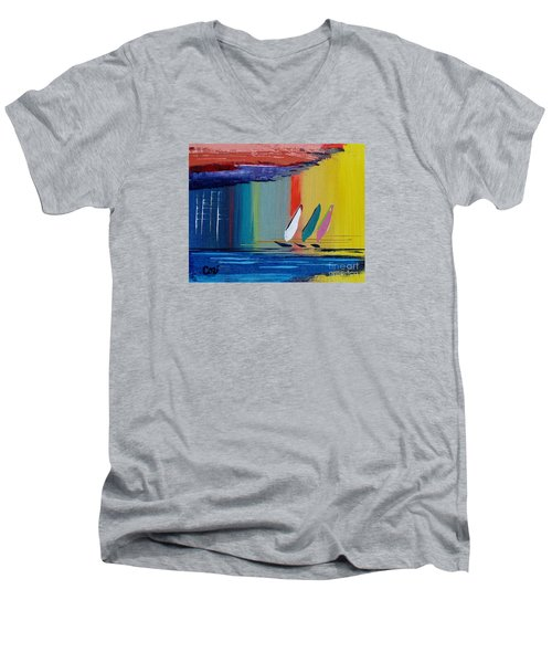 Three Sails Men's V-Neck T-Shirt
