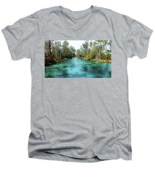 Three Sisters Springs Long View Men's V-Neck T-Shirt