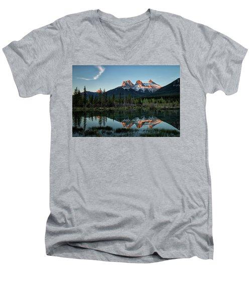 Three Sisters Sunrise Men's V-Neck T-Shirt