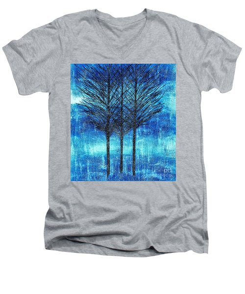 Three Trees  Men's V-Neck T-Shirt