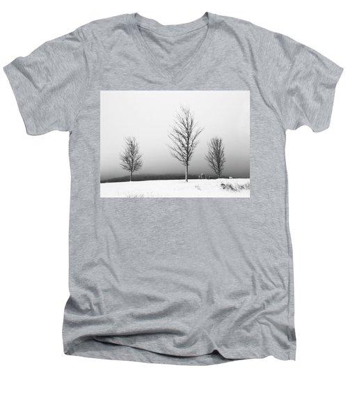 Three Trees In Winter Men's V-Neck T-Shirt