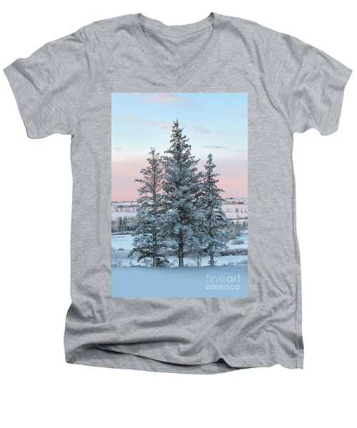 Three Trees Men's V-Neck T-Shirt by Ronda Kimbrow