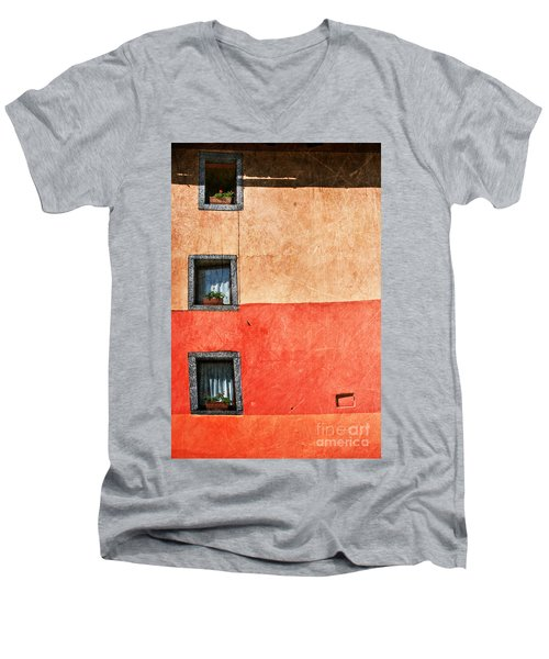 Three Vertical Windows Men's V-Neck T-Shirt by Silvia Ganora